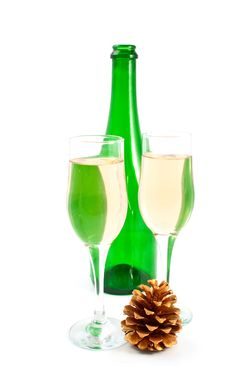 Free Champagne Glasses Royalty Free Stock Photography - 17003657