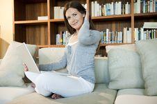 Free Woman Working On Laptop Stock Photo - 17003770