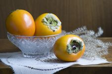 Free Still Life With Persimmons Stock Images - 17004324