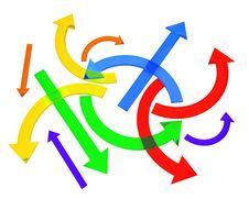 Free Multicolored Arrows Stock Photos - 17004703