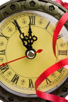 Clock Shows Almost Twelve Stock Photography