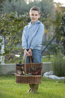 Free Little Gardener Stock Photography - 17006082