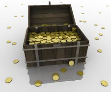 Free Chest Of Gold Royalty Free Stock Images - 17006169