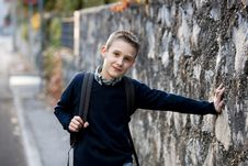 Free Schoolboy Outdoors Royalty Free Stock Images - 17006739
