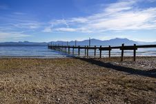 Free Jetty At Lake Chiemsee Royalty Free Stock Images - 17007669