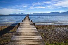 Free Jetty At Lake Chiemsee Stock Images - 17007724