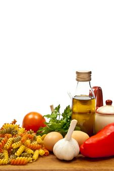 Free Ingredients And Pasta Royalty Free Stock Photos - 17007798