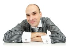 Free Smiling Handsome Businessman Royalty Free Stock Photography - 17007897