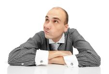 Free Young Thoughtful Businessman Stock Photography - 17007902