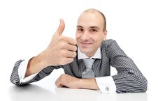 Free Man With Thumbs Up Gesture Royalty Free Stock Image - 17007906