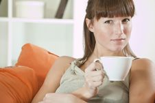 Free Woman With Cup Tea Royalty Free Stock Photos - 17007918