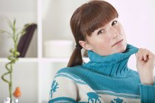 Free Woman In Knit Jumper Royalty Free Stock Photography - 17007937