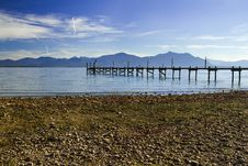 Free Jetty At Lake Chiemsee Royalty Free Stock Images - 17008019