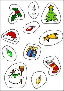 Free Christmas Stickers Stock Image - 17008121