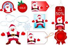 Free Santa Design Elements Stock Image - 17008211