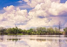 Free Clouds Reflection On Lake. Royalty Free Stock Image - 17008406