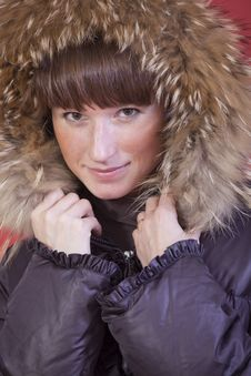 Free Woman In Fur Hood Stock Photography - 17008412