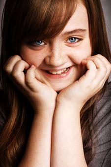 Free Beautiful Girl Smiling Royalty Free Stock Image - 17008736