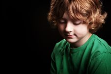Free Pensive Young Boy Stock Photography - 17008982