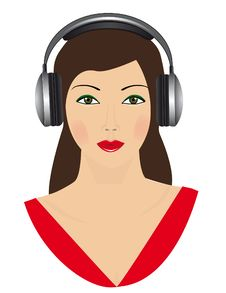Free The Girl In Headphones Royalty Free Stock Image - 17009146