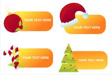 Free Set Of 4 Christmas Banners Royalty Free Stock Image - 17009756
