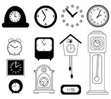 Free Set Of Clocks Stock Photos - 17009903
