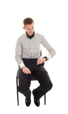 Free Business Man On The Chair Royalty Free Stock Photography - 17009937