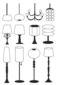 Free Set Of Lamps Stock Photo - 17009950