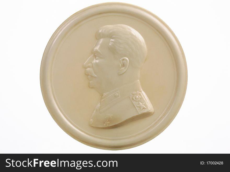 Bas-relief of Joseph Stalin