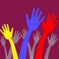 Free Upwards Reaching Hands Illustration Stock Photo - 17014030