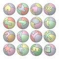 Free Balloon Web Icons Royalty Free Stock Photo - 17017405
