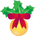Free Christmas Holly Decoration Stock Photography - 17019752