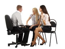 The Business Team On The Chairs Royalty Free Stock Photos