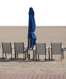 Free Chairs And Umbrella On Sandy Beach Stock Photo - 17010180