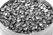 Box With Airgun Pellets Royalty Free Stock Image