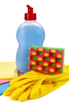 Free Objects For Washing And Cleaning Up On Kitchen Stock Photos - 17010913