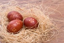 Hand Painted Easter Eggs Royalty Free Stock Images