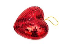 Red Heart As A Decoration Stock Photography