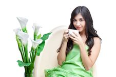 Free Beautiful Woman  In Cafe Royalty Free Stock Photo - 17012585