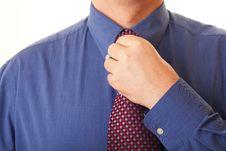 Free Businessman Adjusting His Tie Royalty Free Stock Photo - 17012655