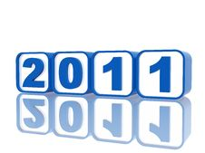 Free Blue Cubes 2011 Stock Image - 17012671