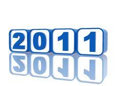 Blue Cubes 2011 Stock Image