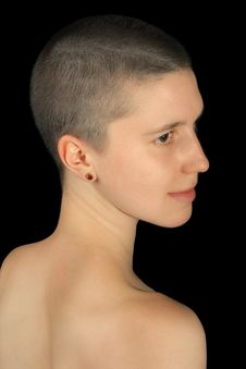 Free Shaved Girl Royalty Free Stock Image - 17012676