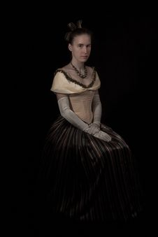 Free Girl In Nineteenth Century Dress Royalty Free Stock Image - 17012686
