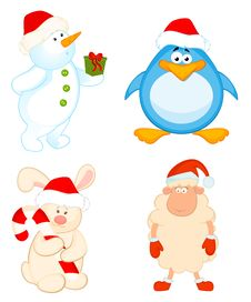 Free Cartoon Little Toys Are Isolated Stock Images - 17013394