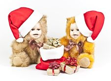 Free Christmas Bears. Stock Images - 17013424