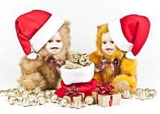 Free Christmas Bears. Stock Photography - 17013442