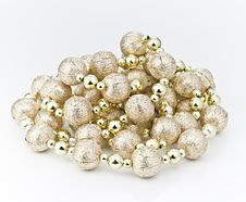 Free Decorative Ball Chains. Royalty Free Stock Photography - 17013647