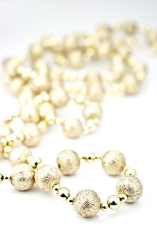 Free Decorative Ball Chains. Royalty Free Stock Images - 17013659
