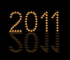 New Years Card 2011 Stock Photos